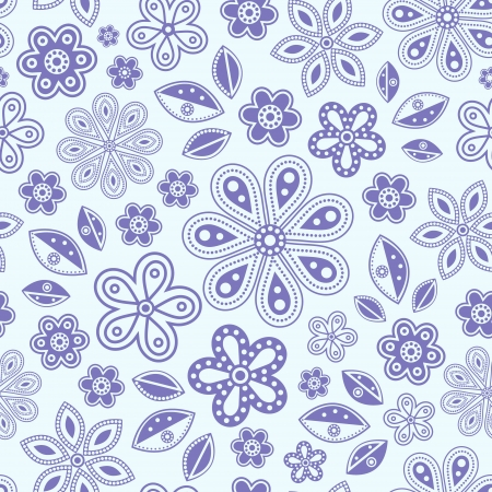 pastel colour: illustration of seamless pattern with abstract flowers.Floral background