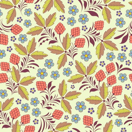 illustration of seamless pattern with abstract flowers Floral background Illustration