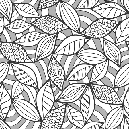 floral fabric: Vector illustration of abstract seamless pattern