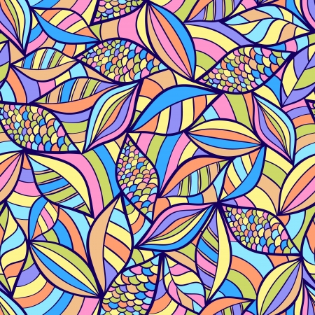 modern art painting: Vector illustration of abstract seamless pattern with colorful elements