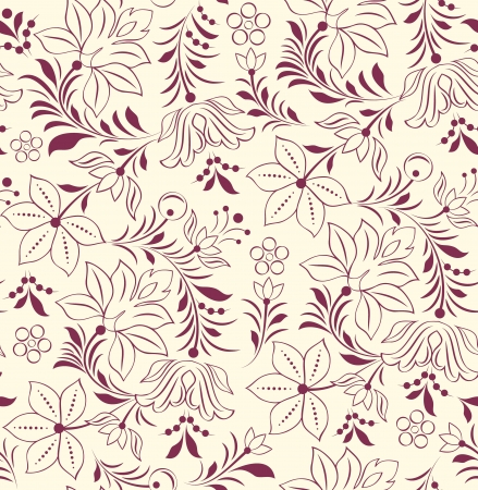 flora: Vector illustration of seamless pattern with abstract flowers.Floral background Illustration