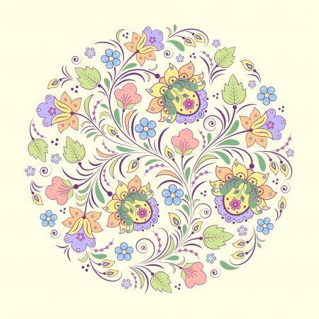 Vector Illustration der abstrakten Blumenmuster