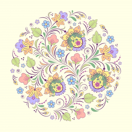 Vector illustration of abstract floral pattern  Vector