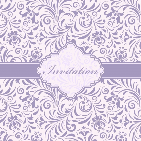 Vector illustration of  floral invitation card ( or place your text) Illustration