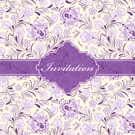 Vector illustration of floral invitation card   or place your text Stock Vector - 16661361