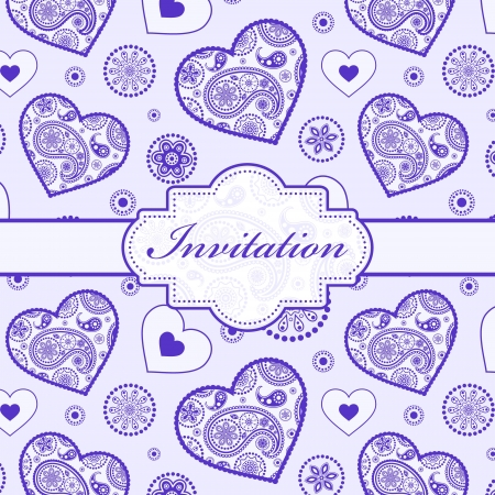 Vector illustration of  invitation card   or place your text  Vector