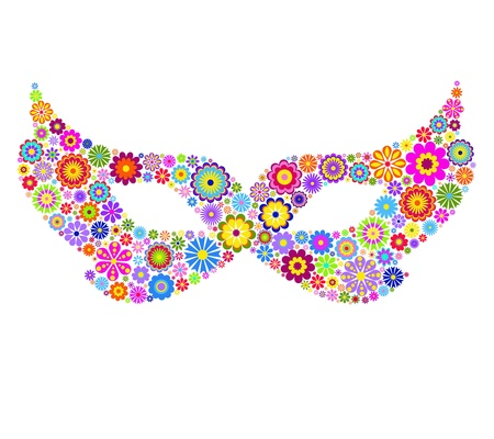 decoration decorative disguise: Vector illustration of carnival mask on white background