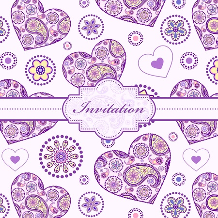 Vector illustration of  colorful floral invitation card ( or place your text) Stock Vector - 16760489