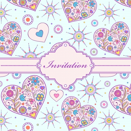 Vector illustration of colorful invitation card ( or place your text) Vector