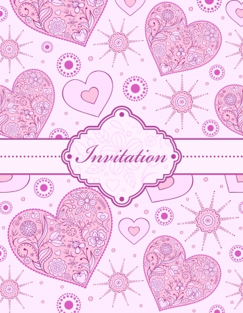Vector illustration of  invitation card ( or place your text) Vector