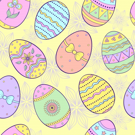 illustration of seamless pattern with  easter eggs Vector