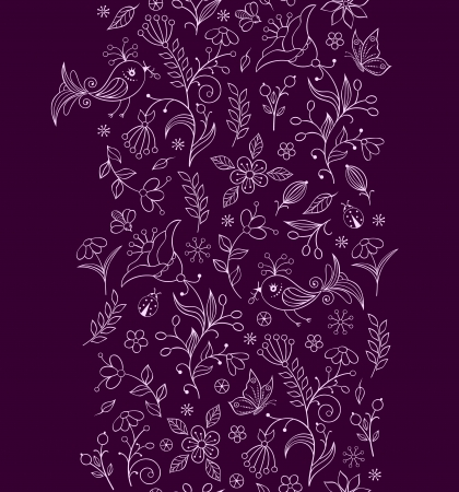 illustration of seamless pattern with abstract flowers.Floral background. Vector