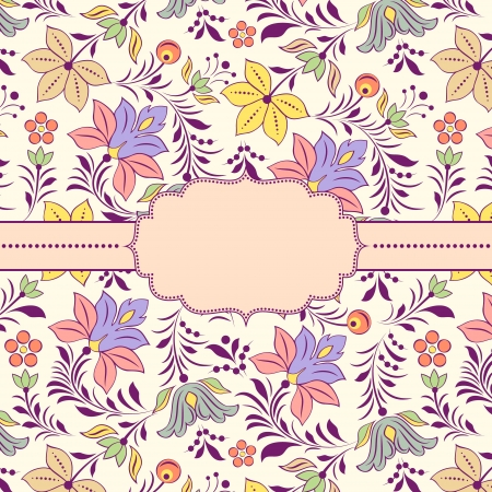 Vector illustration of  frame with floral pattern. Stock Vector - 17313767