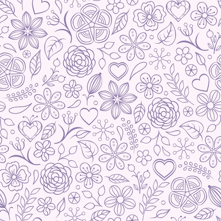 Vector illustration of seamless pattern with abstract flowers.Floral background Stock Vector - 17898723