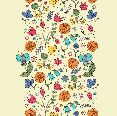 linden: Vector illustration of seamless pattern with abstract flowers Floral background