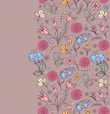 lindeboom: Vector illustratie van naadloze patroon met abstracte bloemen Bloemen achtergrond