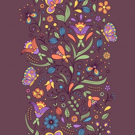 Vector illustration of seamless pattern with abstract flowers.Floral background Stock Vector - 18216406