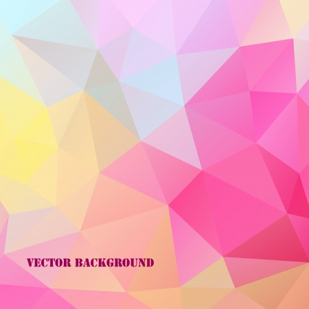 illustration of abstract triangles background