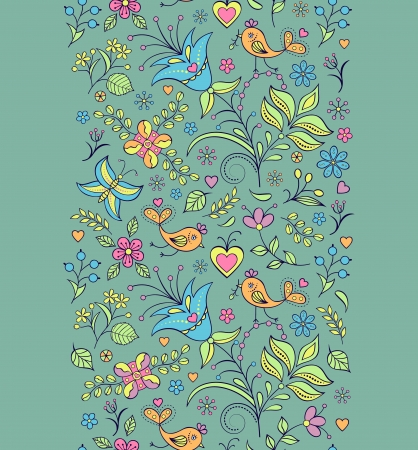 illustration of seamless pattern with abstract flowers.Floral background Stock Vector - 18409571