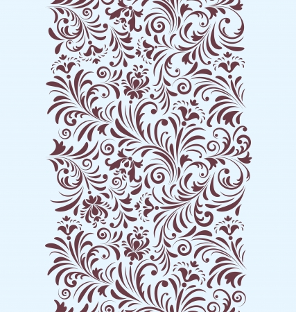 swirl background: illustration of seamless pattern with abstract flowers.Floral background