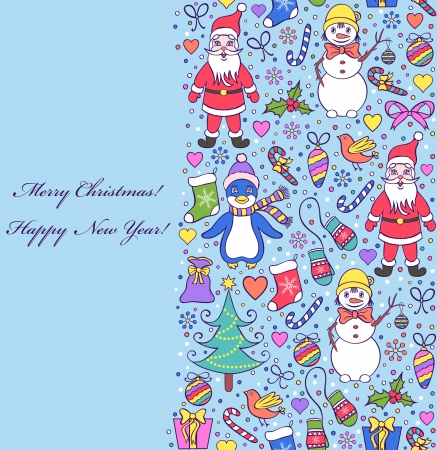 Vector illustration of  colorful seamless christmas pattern Vector