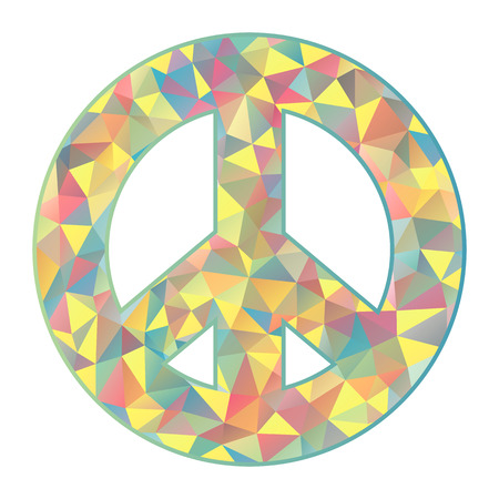 Vector Illustration Of Colorful Peace Symbol On White Background