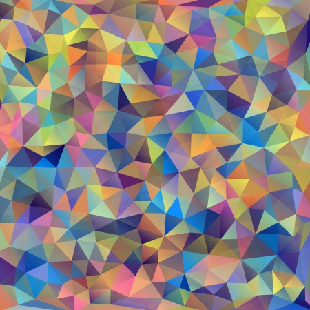 background: Vector illustration of abstract colorful triangles background