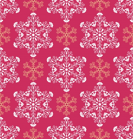 Vector illustration of seamless paterm with abstract snowflakes Vector