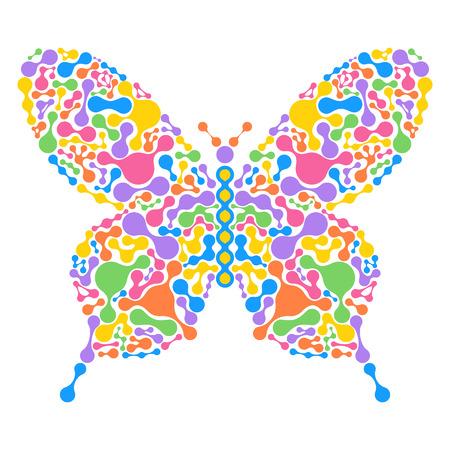 butterfly abstract: Ilustraci�n vectorial de mariposa abstracta aislado sobre fondo blanco