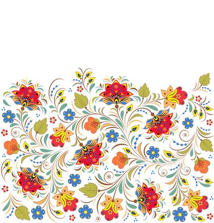 illustration of colorful floral pattern Illustration