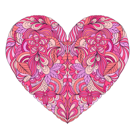 colorful heart: Vector illustration of abstract colorful heart on white background
