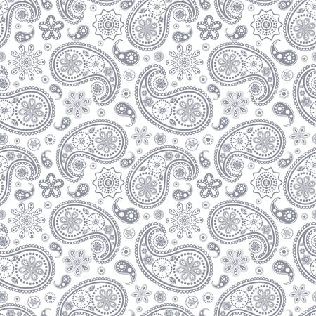 stylishness: Vector illustration of seamless paisley pattern