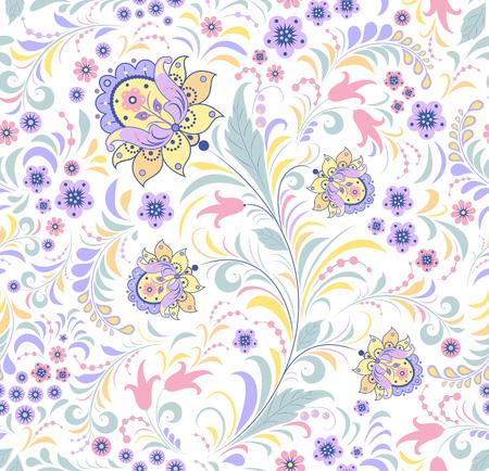 Vector l'illustrazione del modello senza cuciture floreale su fondo bianco.