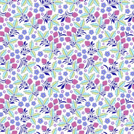 Illustration vectorielle de modèle sans couture floral coloré Vecteurs