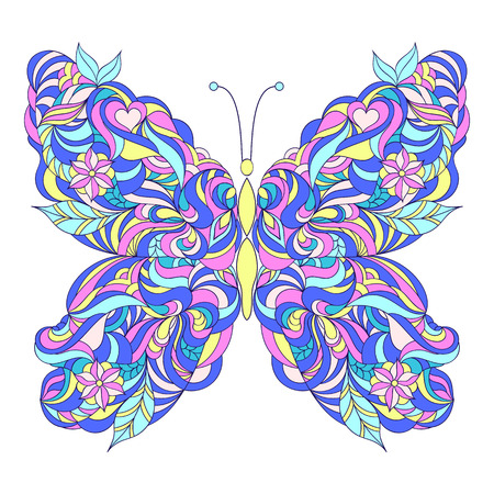 motley: Motley abstract butterfly Illustration