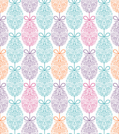 pattern with floral easter eggs Illustration