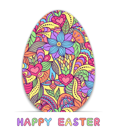 Abstract easter egg on white background. Vector illustration.