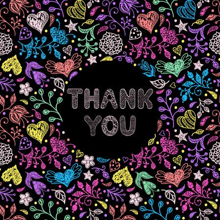 speck: Floral thank you card Illustration