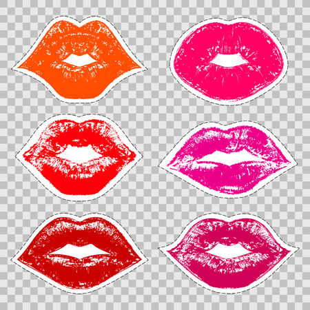 prints of female lips