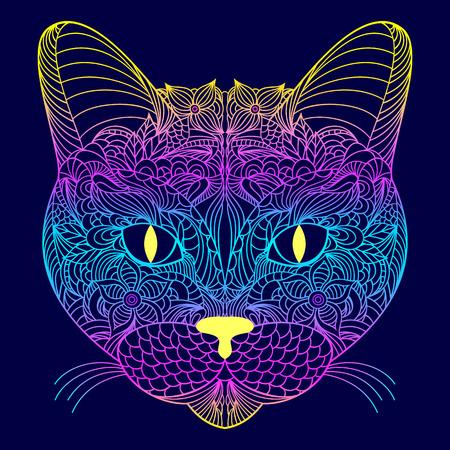 Head of cat.