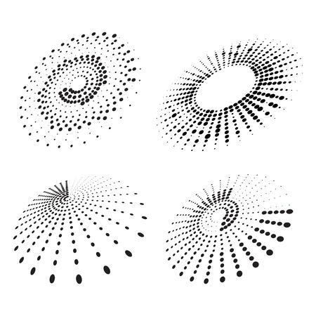 Set van abstracte halftone elementen