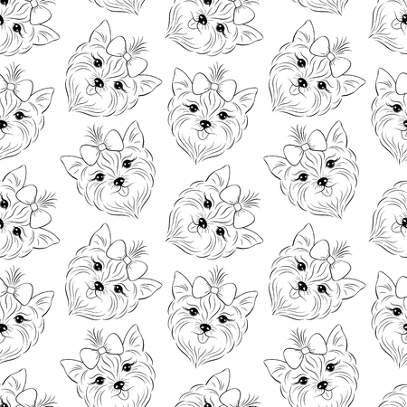 A pattern with head of dog