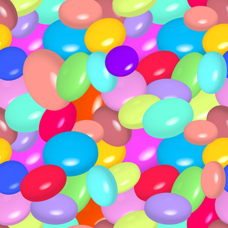 Vector illustration of seamless pattern with colorful candies.