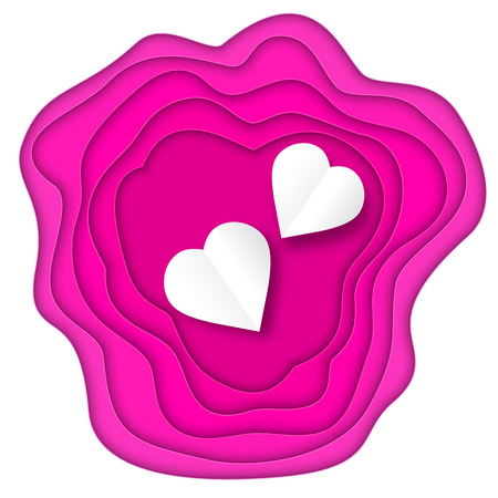 Illustration of Valentines day card design