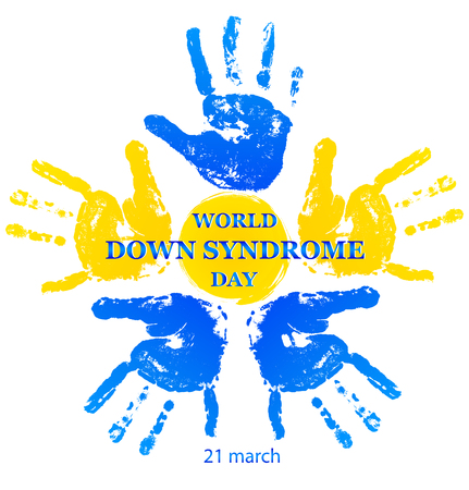 Vector illustration for world down syndrome day on white background Illustration