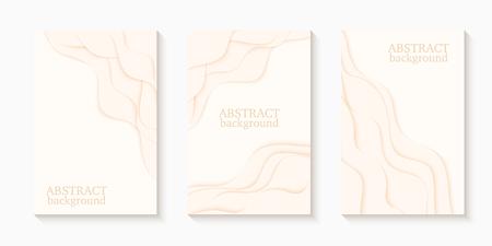 Vector illustration of 3d paper art background. Template for your design