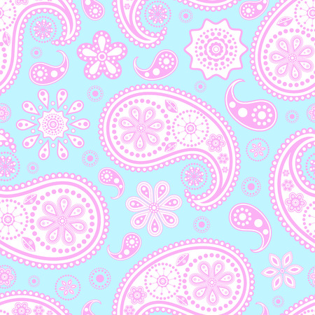 Vector illustration of seamless paisley pattern.Abstract pattern