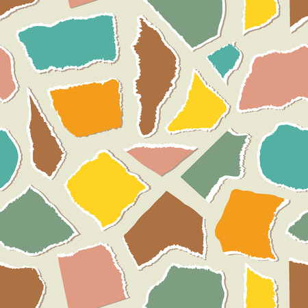 Seamless pattern with pieceis of paper.Surface pattern.