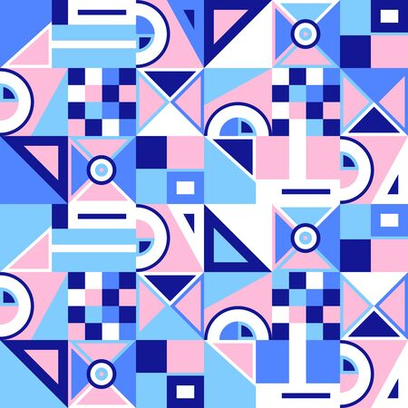 Abstract seamless geometric pattern. Seamless pattern in modern color palette. It be perfect for apparel, fabric, wallpaper and more.