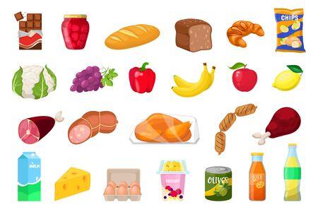 set of food Vector Illustratie